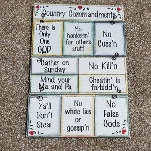 10 Commandments | Country Commandments Wall Art